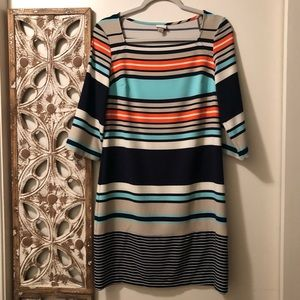 Merona 3/4 Sleeve Striped Dress